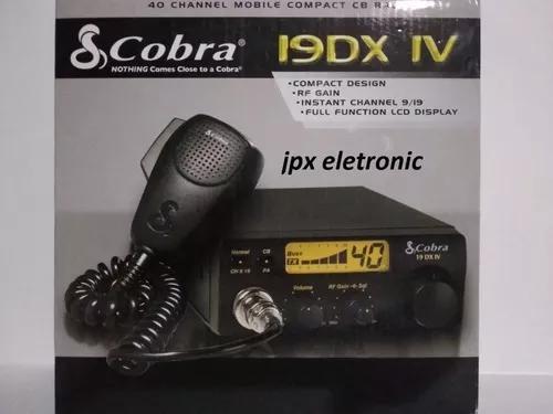 Radio px amador cobra 19 dx iv+cabo da antena **