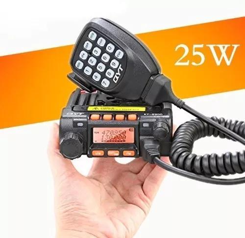 Rádio amador dual band vhf uhf qyt kt-8900 25 watts