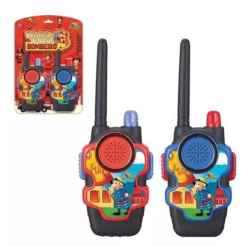 Rádio amador walk talk infantil bombeiros pronta entrega