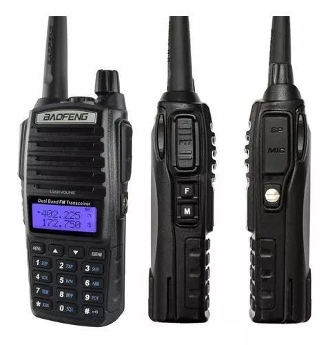 Rádio comunicador baofeng dual band pro 12km + fone uv-82