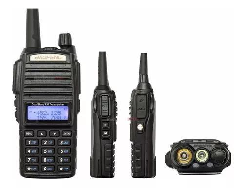 Rádio comunicador baofeng uv-82 dual band rádio fm com