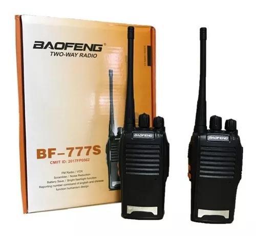 Rádio comunicador walk talk baofeng 777s alcance 12km +