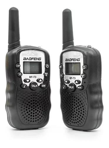 Rádio comunicador walk talk baofeng alcance 3km infantil