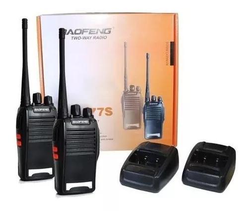 Rádio comunicador walk talk com 2 unidades kit completo