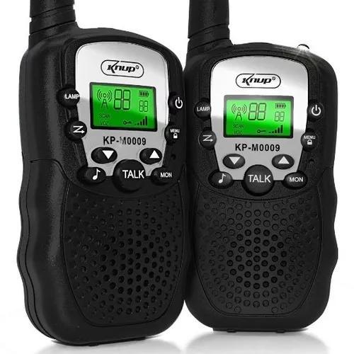 Rádio comunicador walk talk dual 3km display lcd kit com 2