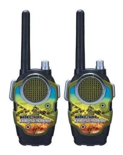Rádio comunicador walk talk infantil brinquedo - força
