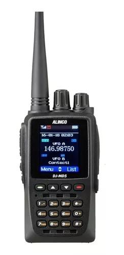 Rádio ht vhf/uhf alinco dj-md5tgp c/gps analógico /