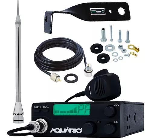 Rádio px 40 canais rp-40 antena px alongador 60cm marinox