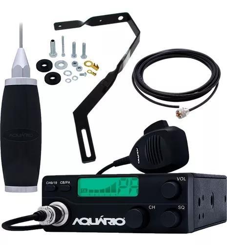 Rádio px 40 canais rp40 antena 2,7m cabo suporte escada