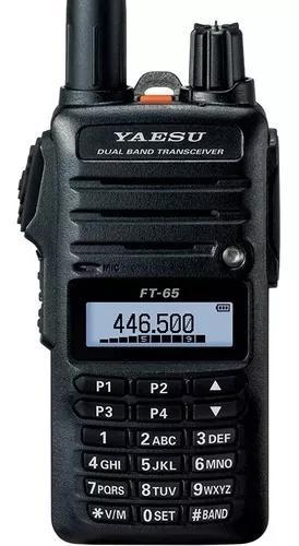 Rádio px yaesu ft-65r - vhf/uhf com nfe