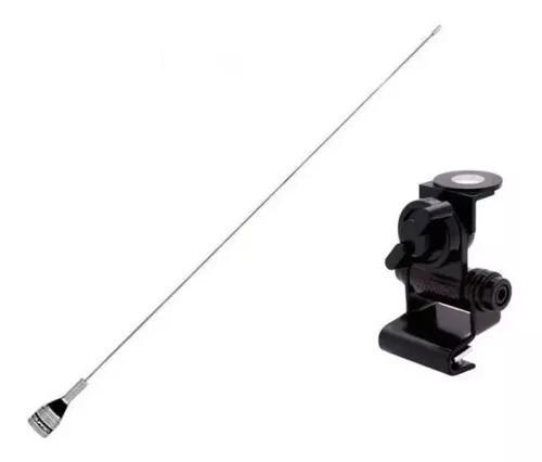 Suporte porta malas + antena aquario vhf 300c radio amador