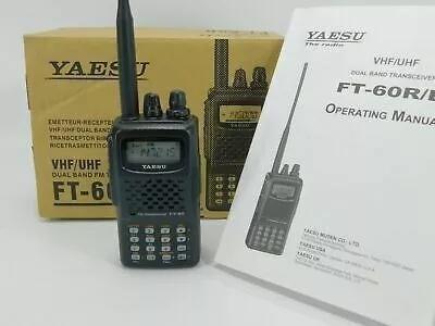 Yaesu ft-60r radio dual band vhf/uhf - 5 watts novo completo