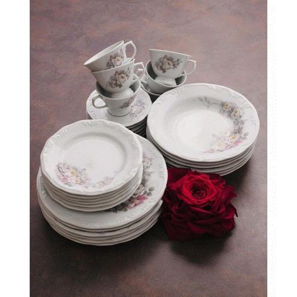 Aparelho jantar 42 peças porcelana schmidt