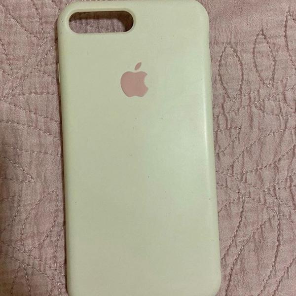 Capinha de silicone apple original rosa iphone 7/8 plus