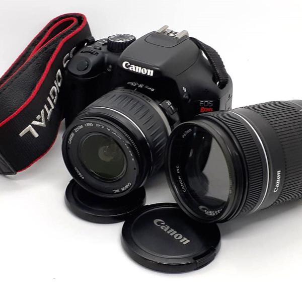 Câmera fotográfica canon t2i rebel - mais lentes