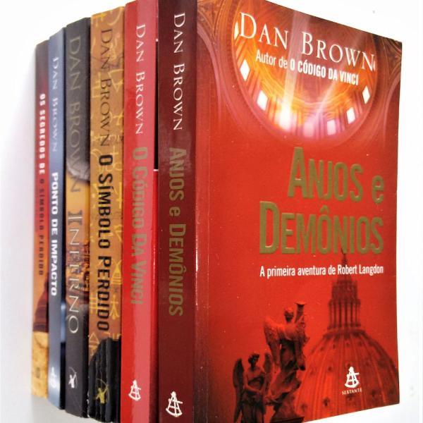 Coleção dan brown - lote com 6 livros - ver lista completa