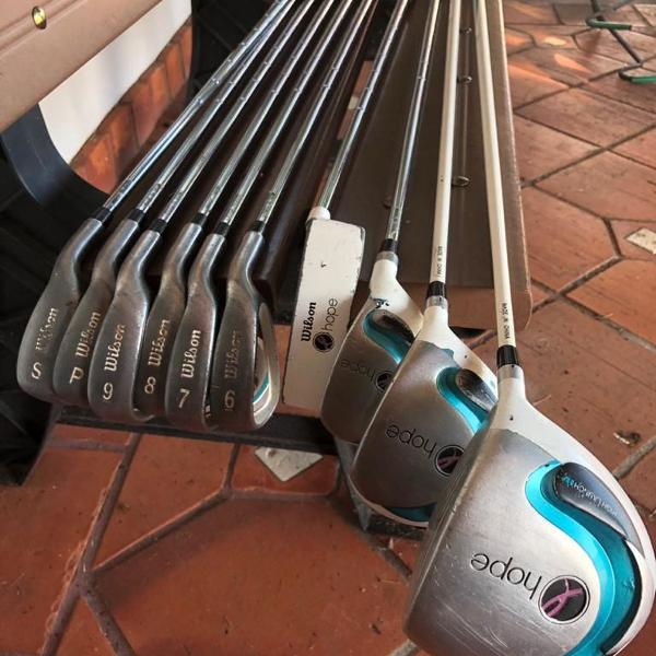 Conjunto tacos de golfe feminino