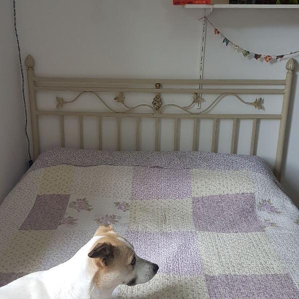 Encosto traseira cabeceira de ferro de cama casal padrão