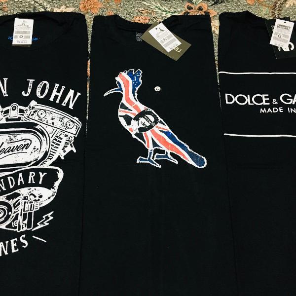 Kit 10 camisetas estampadas