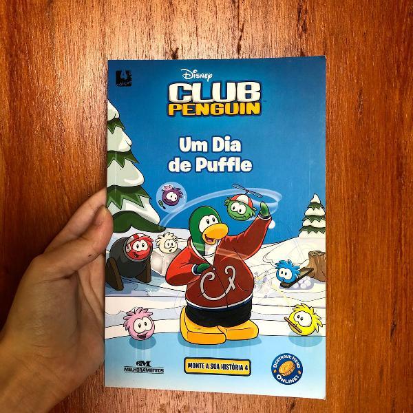Livro club penguin um dia de puffle