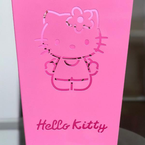 Lixinho da hello kitty rosa claro