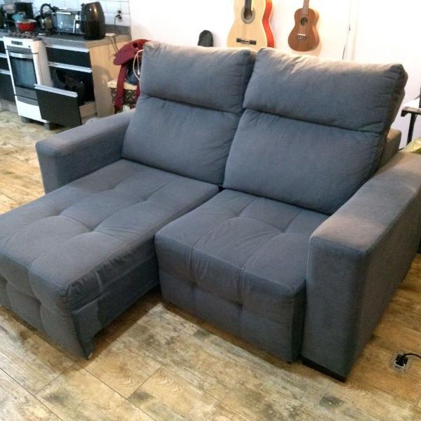sofá 2 lugares retrátil e impermeabilizado