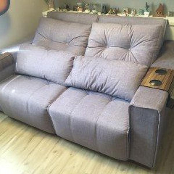 Sofá retrátil e reclinável com almofadas soltas - camaro