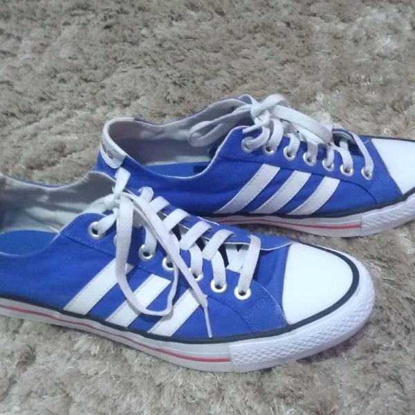Tênis adidas azul com branco original