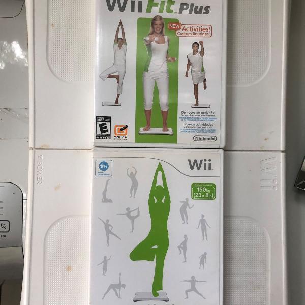 Wii fit balance board + wii fit jogo + wii fit plus