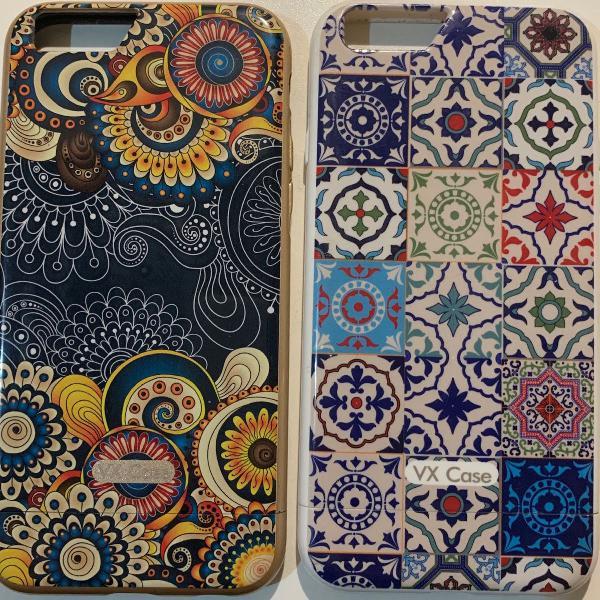 02 capas coloridas para iphone 6/6s: marca vx case