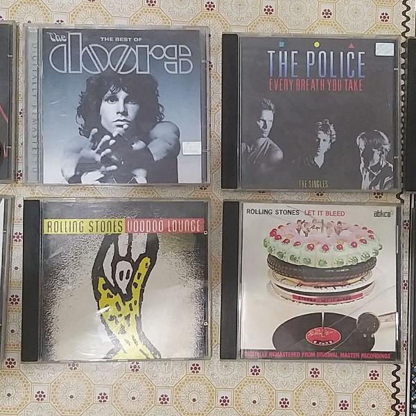 8 cds rock das antigas... (queen, the rolling stones, the