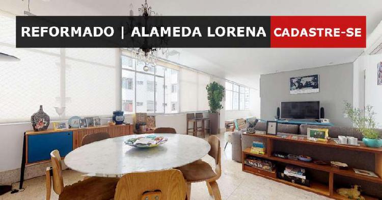 Apartamento reformado na alameda lorena com 150 metros, 3