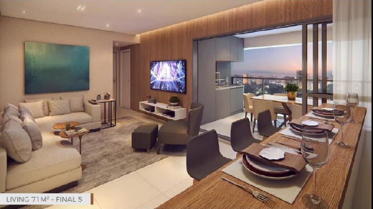 Apartamento venda com 70 m² - 2 dorms (1 suite) e 1 vaga -