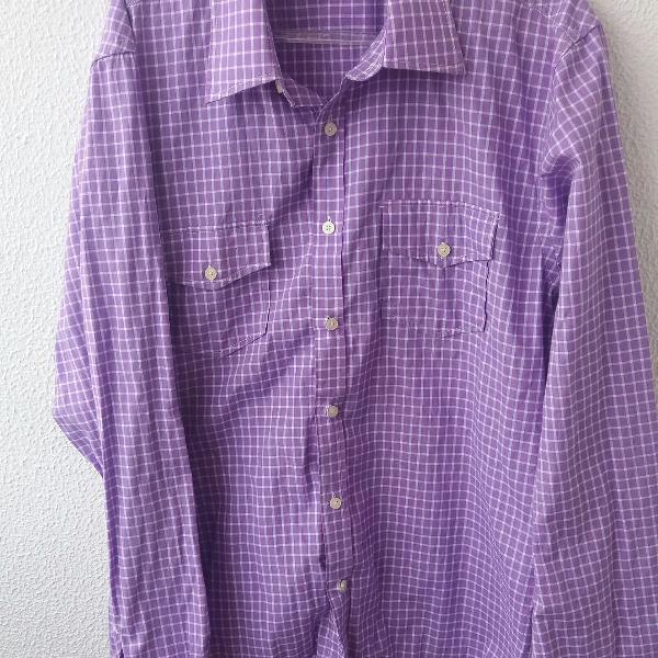 Camisa social xadrez.