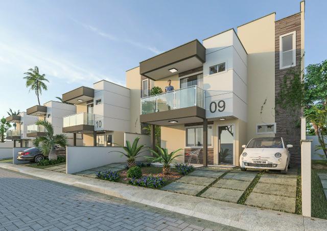 Casa duplex em cond   3 quartos   pagamento facilitado  