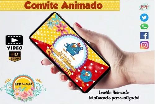 Convite animado - galinha pintadinha