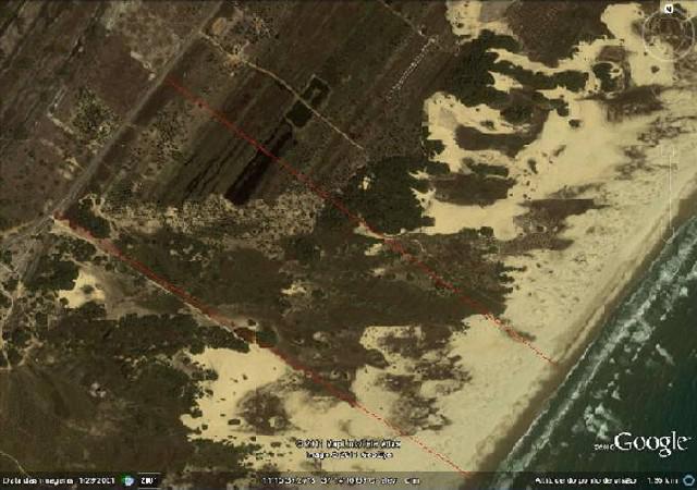 Grande área no litoral sul de sergipe
