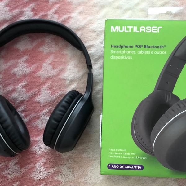 Headphone multilaser bluetooth pop preto - ph246