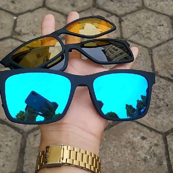 Kit oculos 4 em 1 rayban quadrado