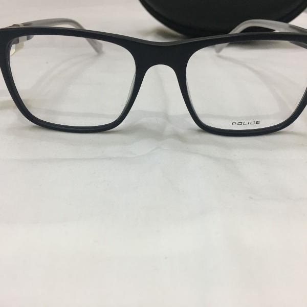 Armação óculos police rangy 6 acetato preto masculino
