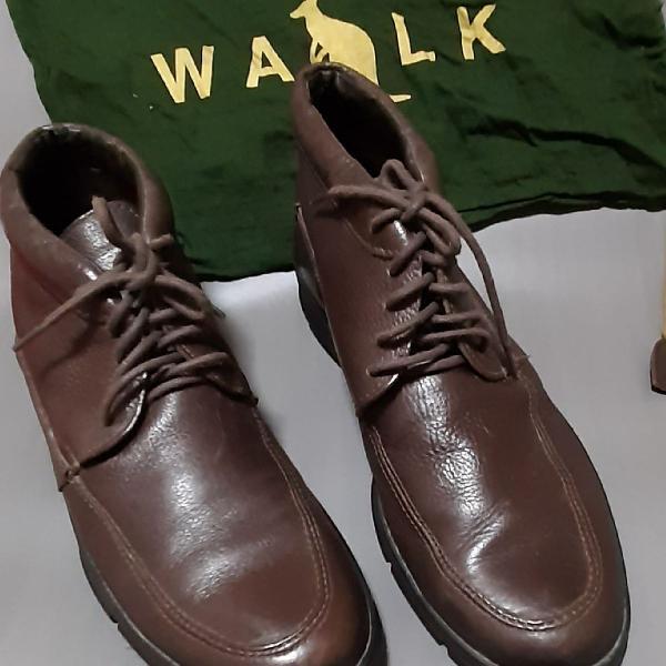 Bota de couro side walk
