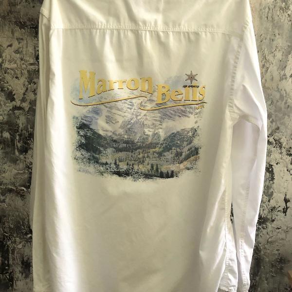 Camisa branca vintage anos 90 aspen
