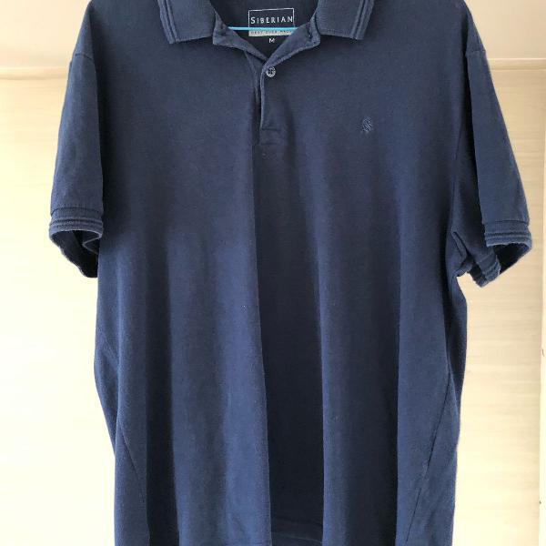 Camisa polo azul escura siberian