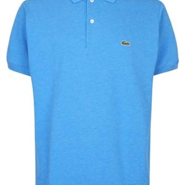 Camisa polo masculina lacoste azul claro