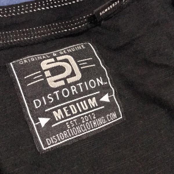 Camisa preta de poliester distortion
