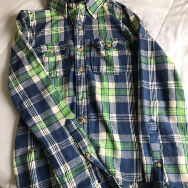 camisa xadrez de flanela abercrombie