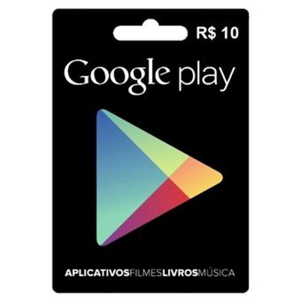 Cartão google play store gift card 10 reais