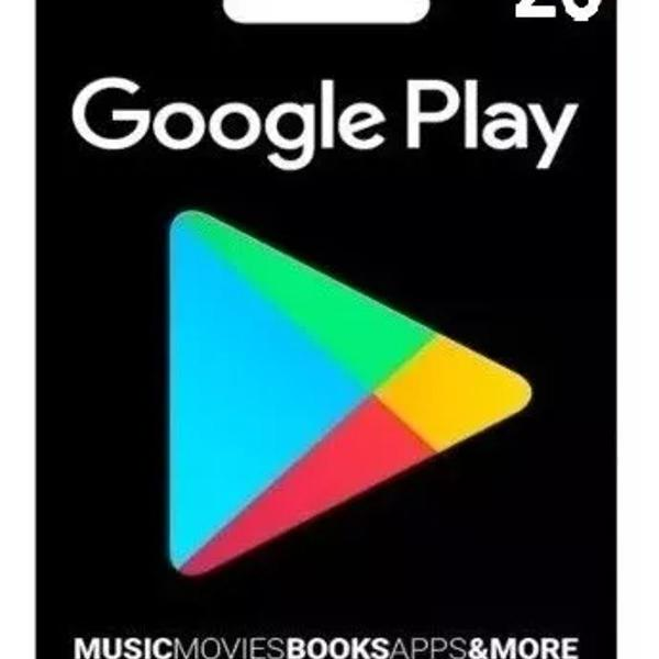 cartão play store google gift card r$ 20 reais