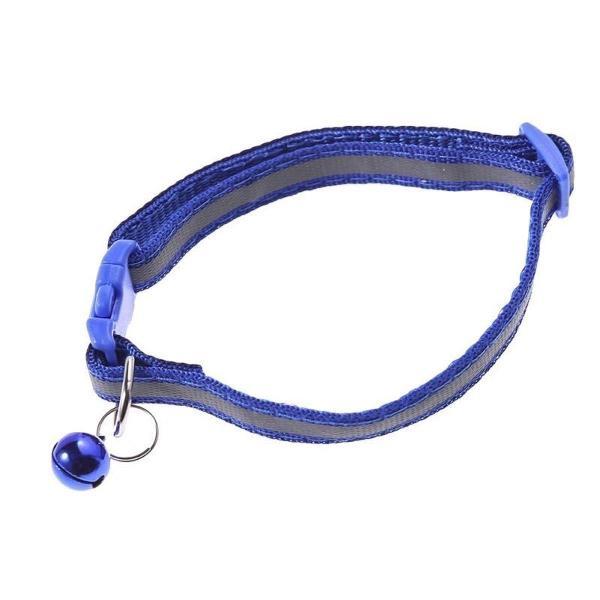 Coleira cachorro reflexiva cor azul animais gatos sino cães