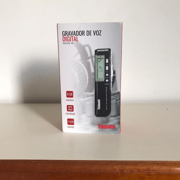 Gravador de voz digital tomate 8gb